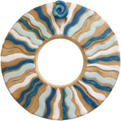 Mandala aus Ton - Wasserenergie im Fluss