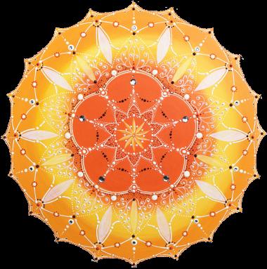 oranges-sonnen-kunst-mandala