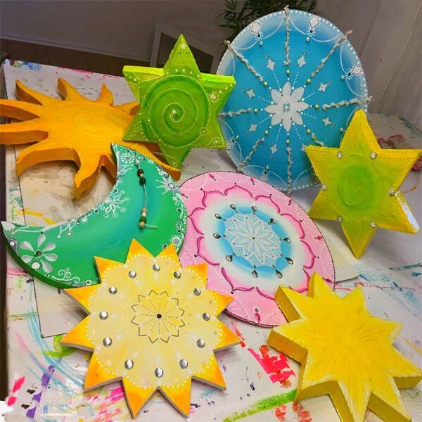 Sternefabrik Basteln zu Weihnachten