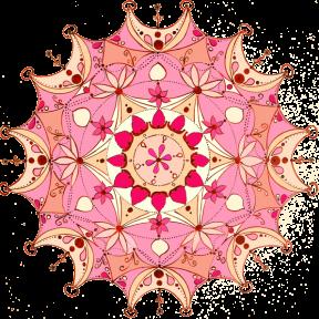 Mandala für Ausgleich - Herzchakra