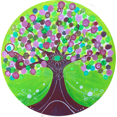 Mandala-Heilende Bäume