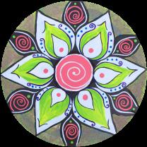 mandala-grüne-blüte