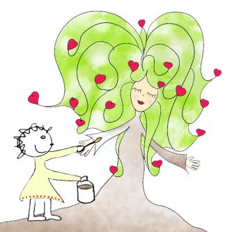 Lebensbaum malen