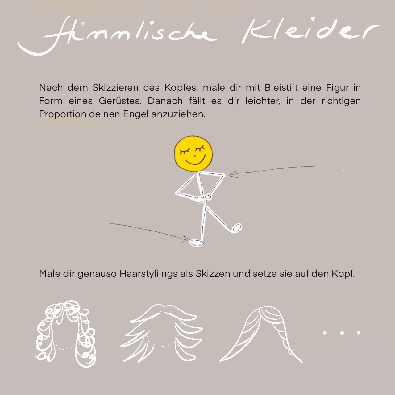 Engelwerkstatt Engel malen Anleitung